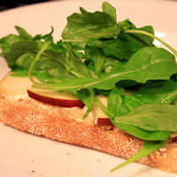 Goat Cheese, Pear, and Arugula Paninis: Main Image