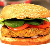 Southwestern Pinto Bean Veggie Burgers: Main Image