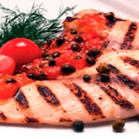 Pan Seared Tilapia with Tomato Caper Sauce: Main Image