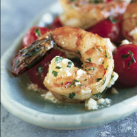 Shrimp with Cherry Tomatoes and Feta: Main Image