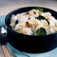 Cauliflower and Broccoli Gratin with Goat Cheese: Main Image
