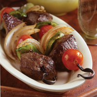 Chino-Latino Beef Kebabs: Main Image