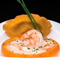 Roasted Pumpkin and Shrimp Bisque: Main Image