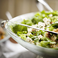 Crunchy Turkey Salad on Greens: Main Image