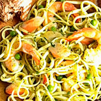 Shrimp Pesto Linguine: Main Image