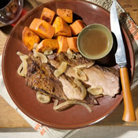 Beef Brisket with Horseradish Sauce: Main Image