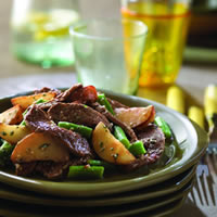 Beefy Potato Salad with Green Beans: Main Image