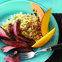 Caribbean Flank Steak with Coconut Rice: Main Image