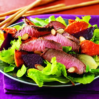 Cumin-Rubbed Steak and Roasted Root Vegetable Salad: Main Image