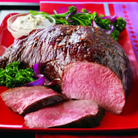 Hearty Glazed Tri-Tip Roast with Creamy Gorgonzola Sauce: Main Image