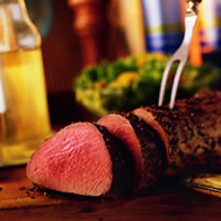 Pepper Herb-Crusted Beef Tenderloin: Main Image