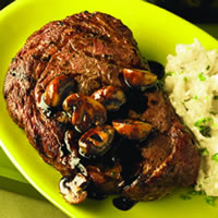 Ribeye Steaks with Balsamic Mushroom Sauce: Main Image