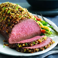 Walnut-Crusted Roast with Blue Cheese Mashed Potatoes: Main Image