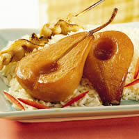 Braised  Pears with Soy-Ginger Glaze: Main Image
