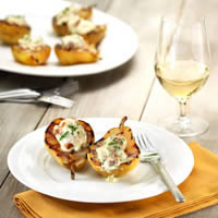 Grilled Pears Stuffed with Mascarpone and Bacon: Main Image