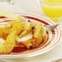 Maple-Glazed Pears with French Toast: Main Image