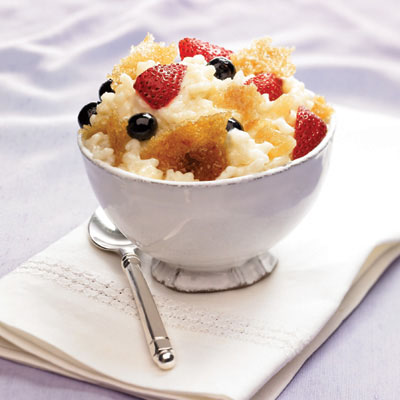 Creamy Rice Pudding Brulee with Gingered Berries: Main Image