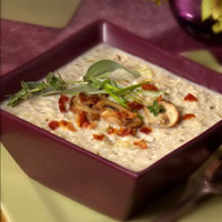 Cremini Mushroom and Roasted Garlic Rice Soup: Main Image