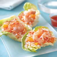 Mandarin Orange Rice and Shrimp Lettuce Wraps: Main Image