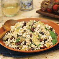 Mediterranean Eggplant, Artichoke and Feta Rice Salad: Main Image