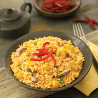 Red Curry Coconut Rice with Pork: Main Image