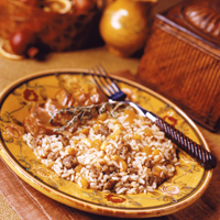 Sausage &amp;amp; Apricot Balsamic Rice: Main Image
