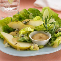 Bibb Lettuce Salad with Gorgonzola and Fresh Pear Dressing: Main Image