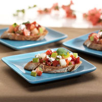 Crostini with Feta and Pear-Strawberry Salsa: Main Image