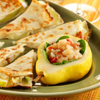 Pear and Brie Quesadilla with Fresh Pear Chutney: Main Image