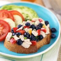 All-American Chicken Blueberry Salad Platter: Main Image