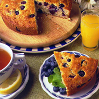 Blueberry Oatmeal Breakfast Cake: Main Image