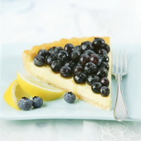 Lemony Blueberry Cheese Tart: Main Image