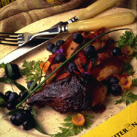 Roast Duck with Blueberry Sauce: Main Image