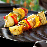Grilled Potato Kabobs with Lemon-Herb Drizzle: Main Image