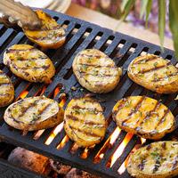 Grilled Yellow Potato Planks: Main Image
