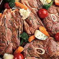 Vegetable Lamb Chop Skillet Dinner: Main Image