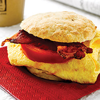 Black Pepper Buttermilk-Potato Biscuit Breakfast Sandwich: Main Image
