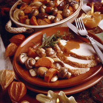 Roasted Mushrooms with Winter Vegetables
