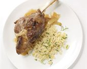 Lamb Shanks with White Wine, Fennel, and Tarragon