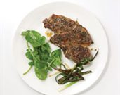 Broiled Provencal Lamb Shoulder Chops with Charred Scallions