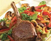 Pacific Rim Lamb Rib Chops with Stir-Fry