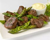 Grilled Asparagus and Lamb with Mustard Aioli