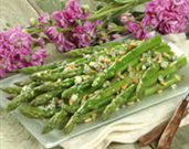 Asparagus with Blue Cheese and Pine Nuts