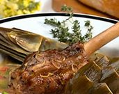 Braised Lamb Shanks with Artichokes and Fava Beans