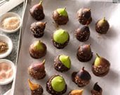 Salted Caramel Chocolate Figs