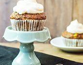 Carrot Raisin Muffins with Cream Cheese Frosting