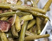 Honey Mustard Glazed Green Beans and Bacon