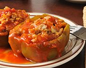 Rice and Bean Stuffed Pepper Cups