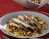 Grilled Chicken with Sweet Corn and Pepper Relish