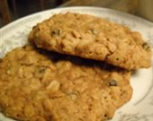 Oatmeal Currant Cookies